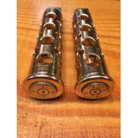 JT's Cycles .50 Caliber BMG Bullets In Brass Footpegs Harley Sportster FXD XL