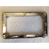 JT's Cycles .308 Genuine Once Fired Bullets Chrome License Plate Frame Harley