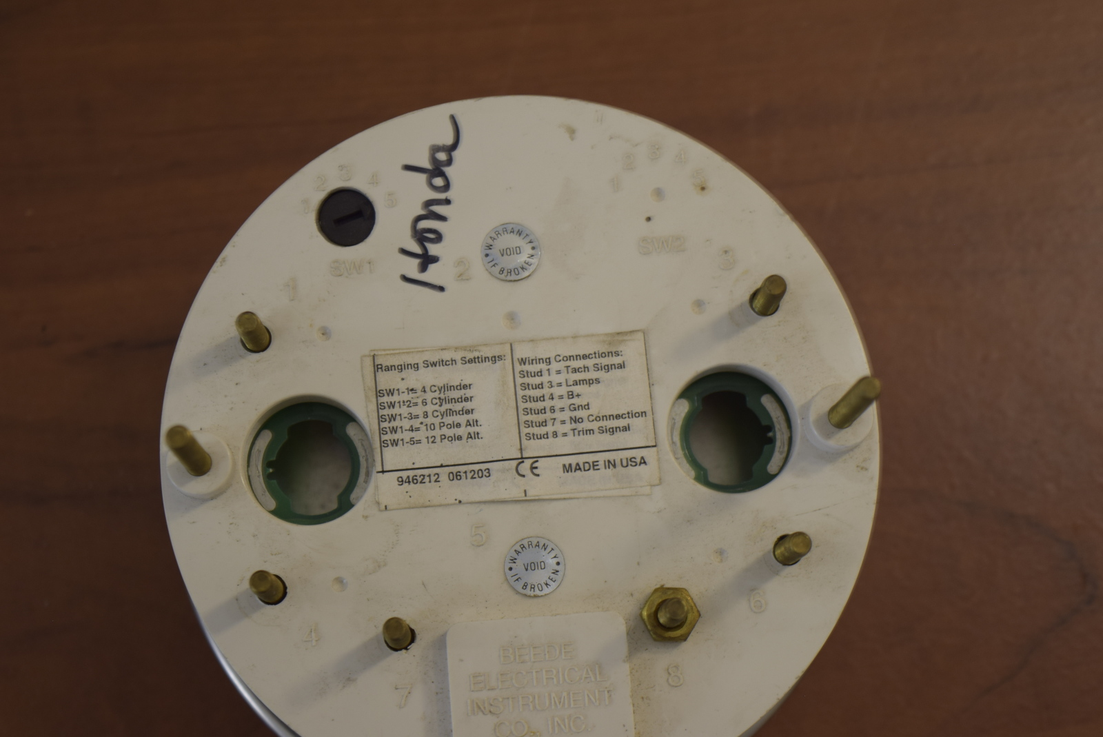 Beede Tachometer Wiring - All Diagram Schematics