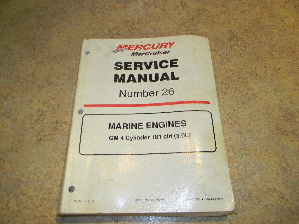 Mercury service Manual Number 26 861329 ...