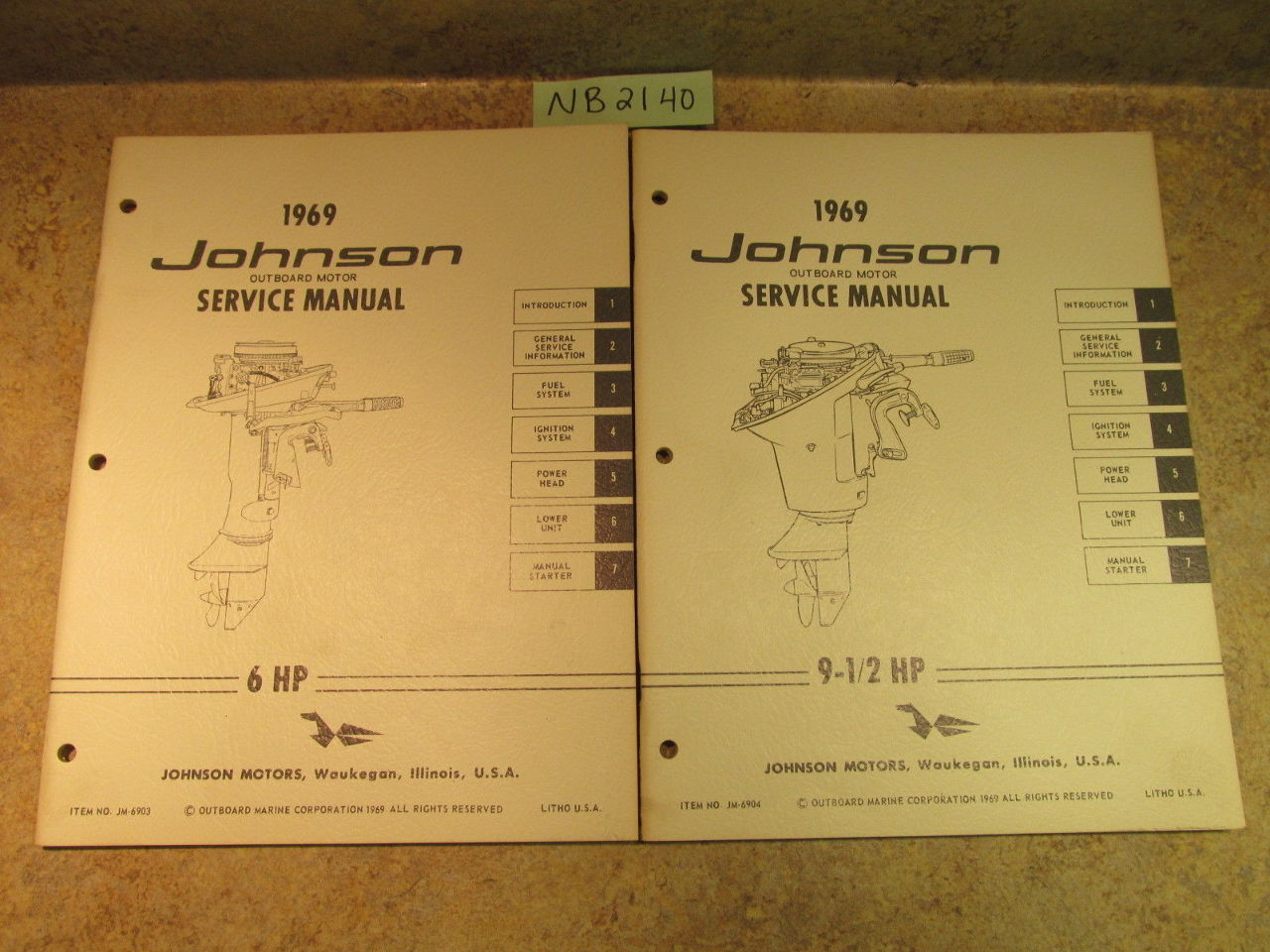 ... 1969 Johnson Evinrude Outboard Service Manual Year Set 1.5-115 HP ...