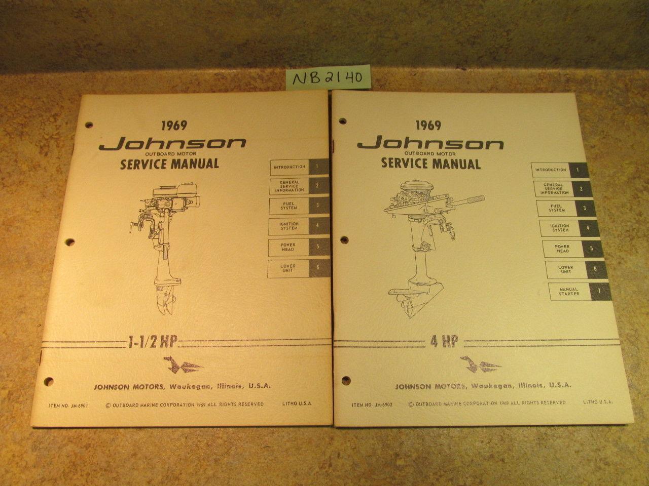 1969 Johnson Outboard Motor Service Manual 115 Hp