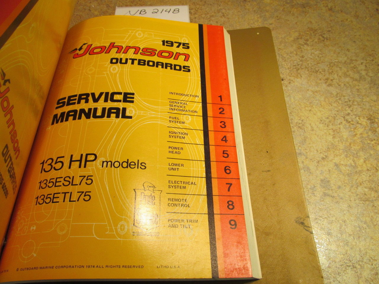 ... 1975 Johnson Evinrude Outboard Service Manual Year Set 2-135 HP