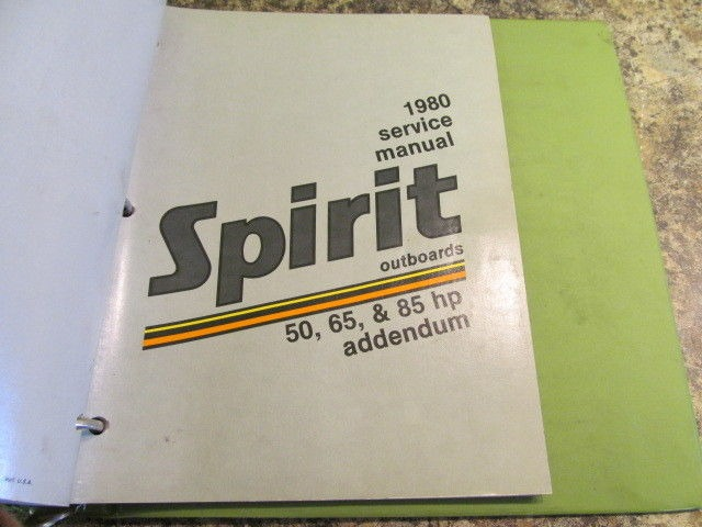 1980 suzuki spirit outboards service manual year set 2 85 hp models rh southcentraloutboards com Small Outboard Motors White Suzuki Outboards