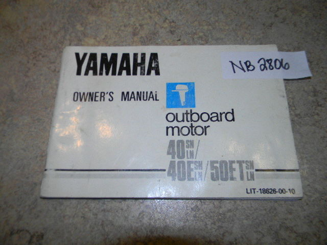 1983 Yamaha Outboard Owner's Manual 40 50 HP