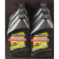 NEW! Quicksilver Mercury Lubricants Full Synthetic 2-Cycle Oil PWC 6 Quarts