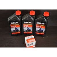 Yamaha Yamalube Oil Changing Kit w/Oil, Filter & Gaskets 5W-30 56H-13440-20-00