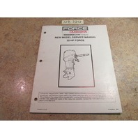 Force Outboards 25 HP New Model Service Manual 90-828625