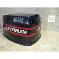 Evinrude V4 Commercial Hood Cowl Cowling Cover Outboard