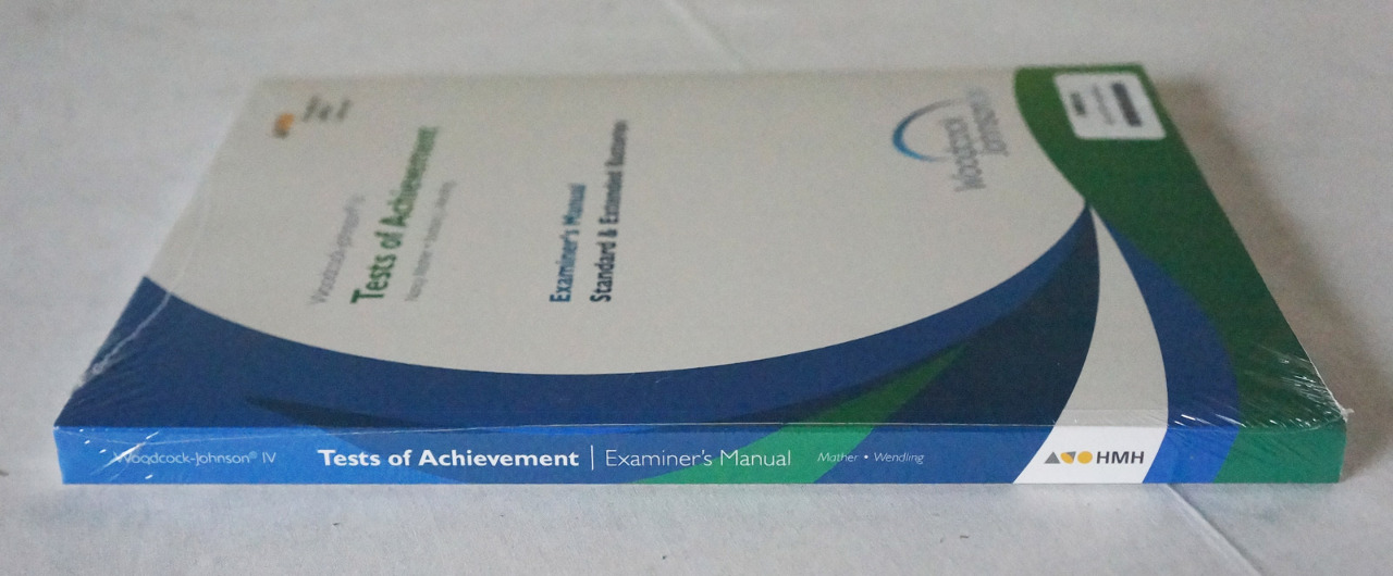 HMH WOODCOCK-JOHNSON IV TESTS OF ACHIEVEMENT EXAMINER'S MANUAL 1588314 NEW