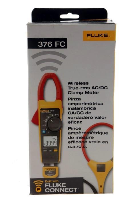 FLUKE HC3300 376 1000 AMP AC & DC TRUE RMS CLAMP METER WITH IFLEX PROBE & BT
