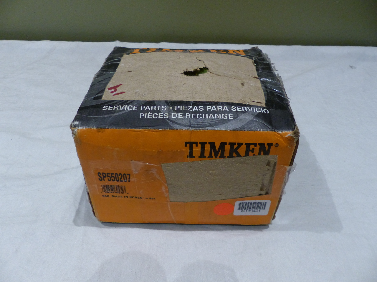 TIMKEN FRONT WHEEL BEARING AND HUB ASSEMBLY SP550207