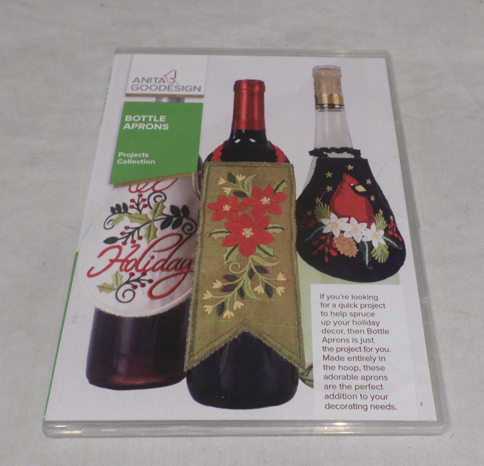 ANITA GOODESIGN EMBROIDERY SOFTWARE BOTTLE APRONS PACK PROJ73