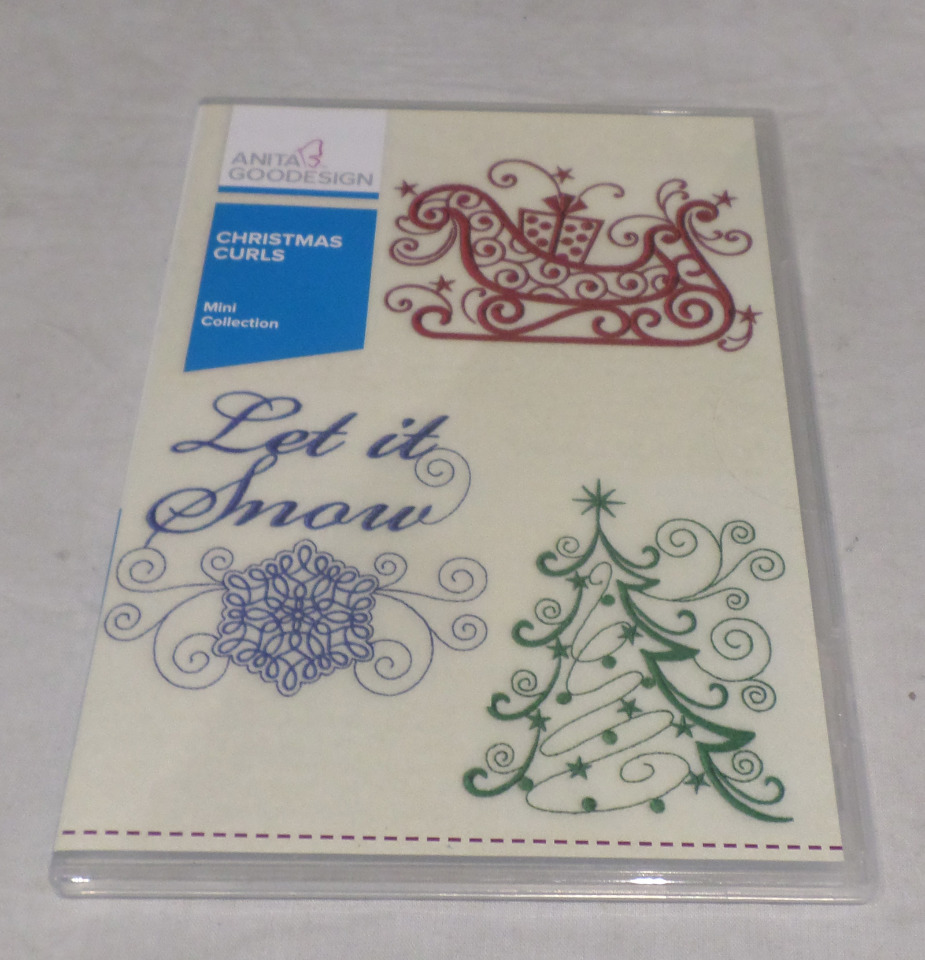 ANITA GOODESIGN EMBROIDERY SOFTWARE CHRISTMAS CURLS PACK MINI 100MAGHD