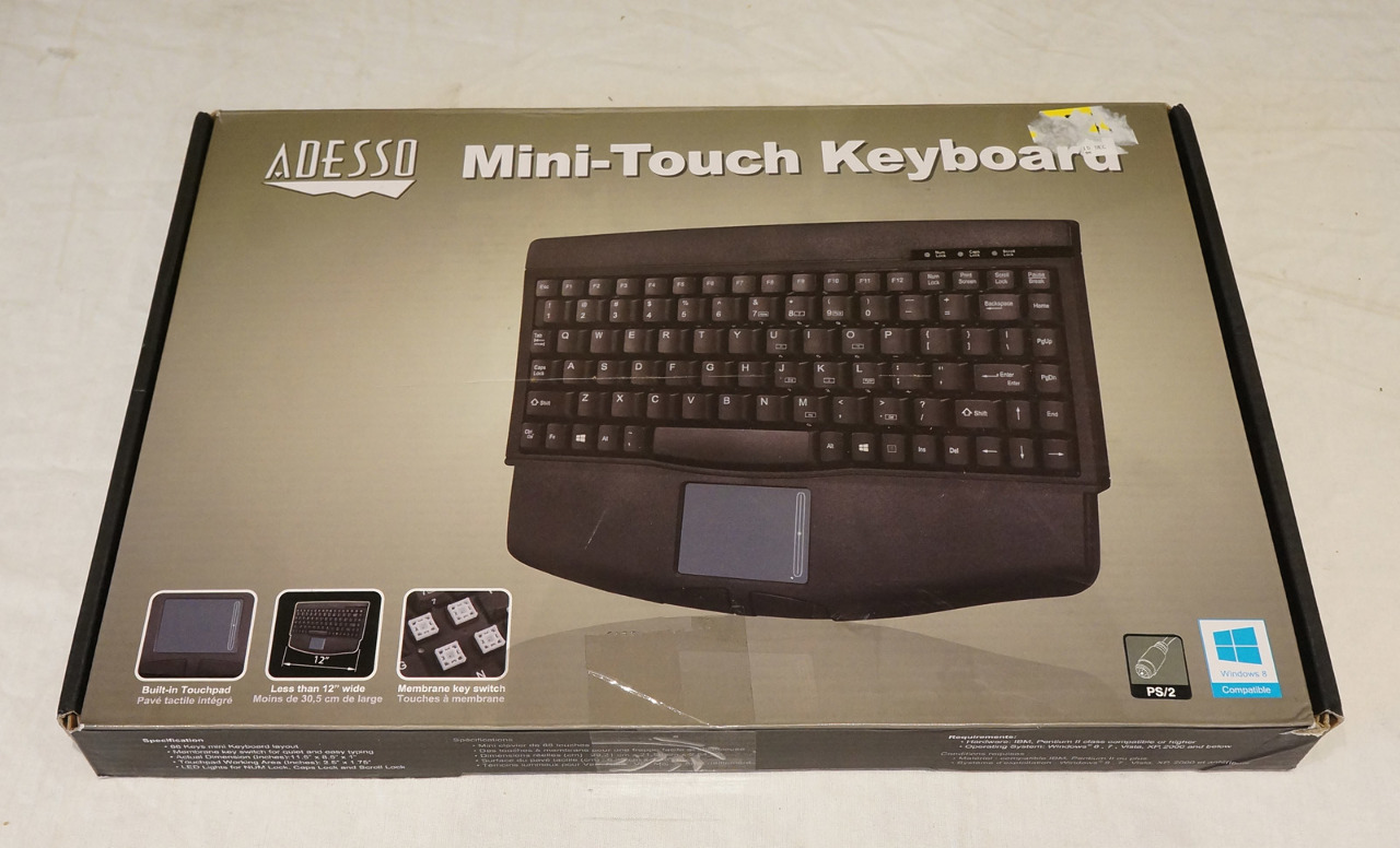 ADESSO MINI-TOUCH KEYBOARD ACK-540PB BLACK USED