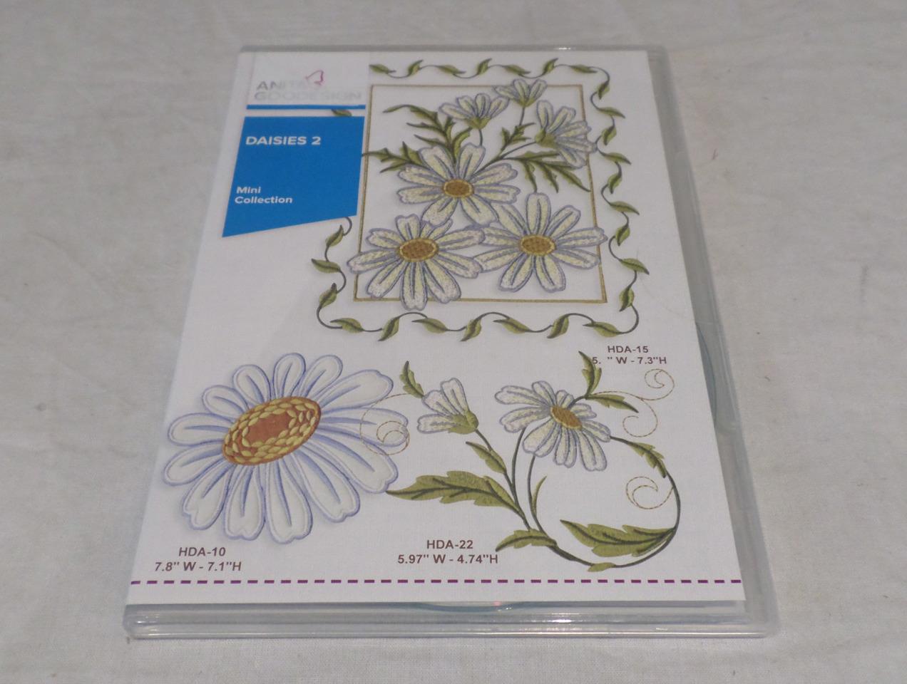 ANITA GOODESIGN EMBROIDERY SOFTWARE DAISIES 2 PACK MINI 75MAGHD