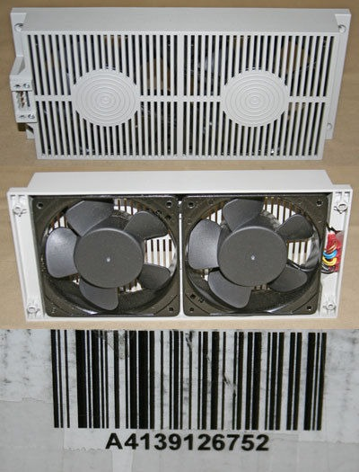 LOT OF 5* DUO FAN BANK DUAL 12CM FANS IN VENTILATED ENCLOSURE
