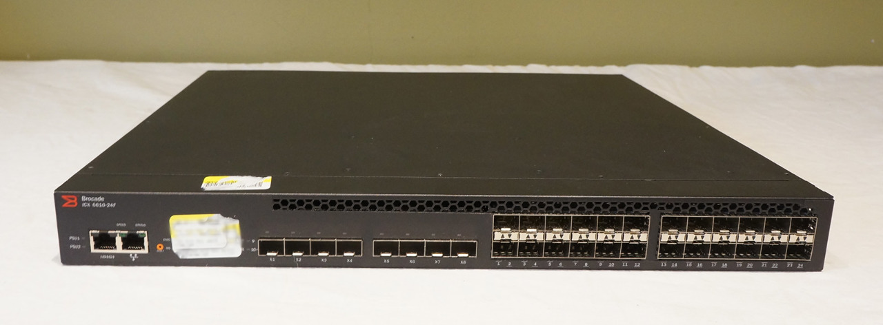 BROCADE ICX 6610-24F L3 MANAGED 24-PORT SFP+ FIBER SWITCH