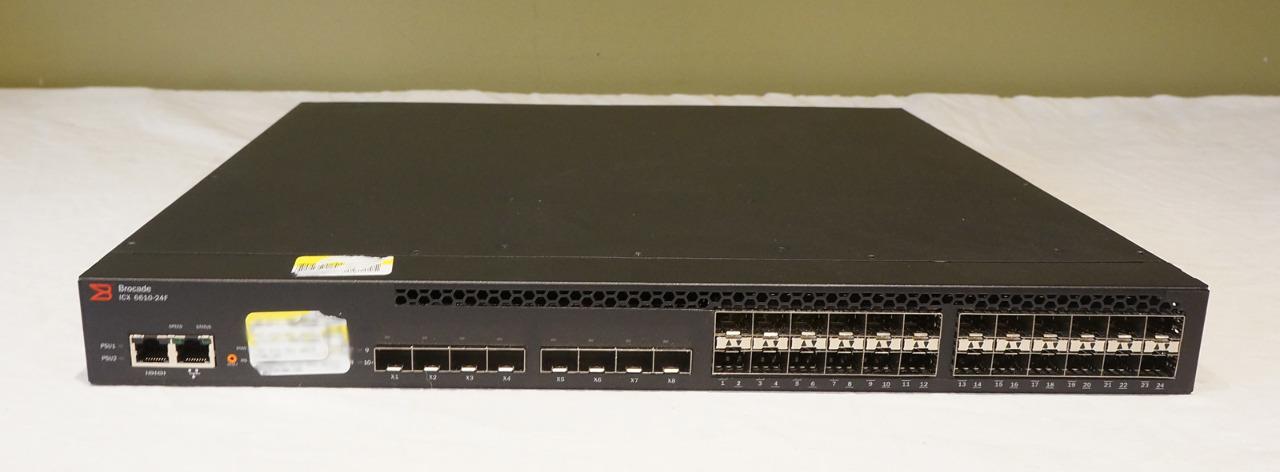 BROCADE ICX 6610-24F L3 MANAGED 24-PORT SFP+ FIBER SWITCH