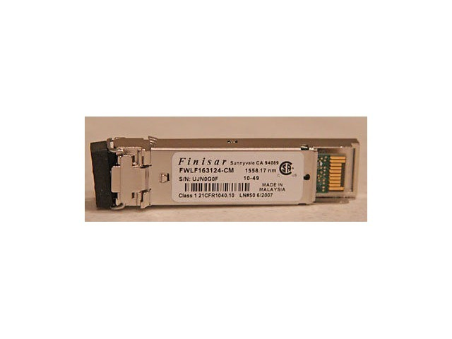 FINISAR TRANSCEIVER MODULE FWLF163124-CM 1558.17NM 10-49 SFP TRANSCEIVER MODULE