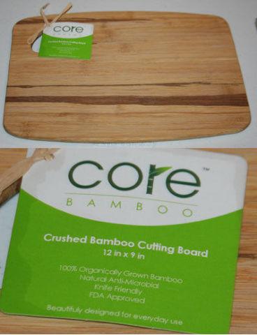 "CORE CRUSHED BAMBOO CUTTING BOARD 12"" X 9"" BRAND NEW"