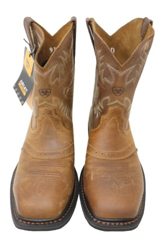 0d23b0eb79a8 ARIAT SIERRA 10010134 MENS AGED BARK WIDE SQUARE WESTERN BOOTS SIZE ...