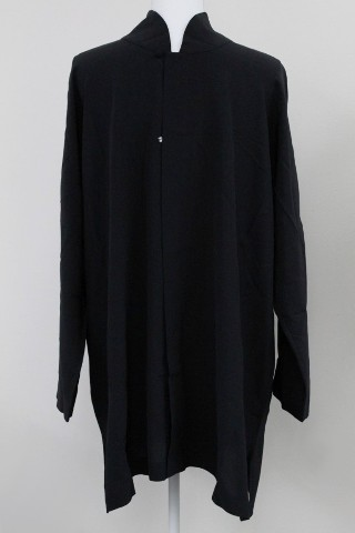 ESKANDAR S15/E014 LONG CHINESE COLLAR SHIRT BLACK S 1