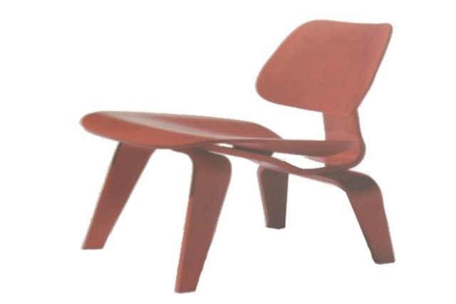 HERMAN MILLER LCW CX WALNUT EAMES MOLDED PLYWOOD LOUNGE CHAIR