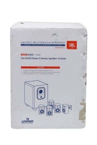 JBL LEVITON BLACK ON-WALL HOME CINEMA SPEAKER SYSTEM 000-AEH50-0BL