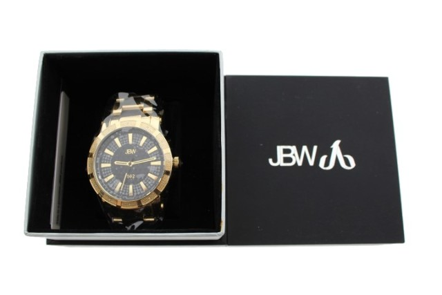 JBW 18K GOLD-PLATED WATCH STAINLESS STEEL SWISS WATCH JB-6225-C