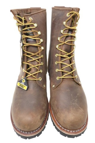 GEORGIA G6374 MENS 6IN BROWN GIANT WORK BOOTS SIZE 10.5W