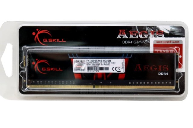 G.SKILL AEGIS F4-3000C16S-8GISB 8GB DDR4 2133MHZ MEMORY MODULE
