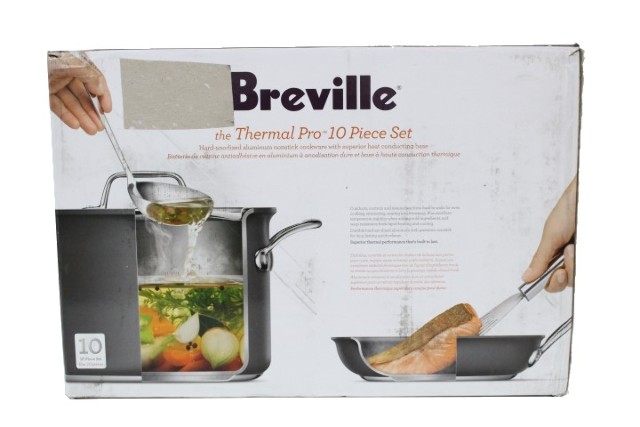 BREVILLE 88472499 THERMAL PRO NONSTICK 10PC COOKWARE SET