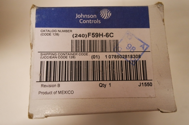JOHNSON CONTROLS SUMP PUMP SWITCH F59H-6C