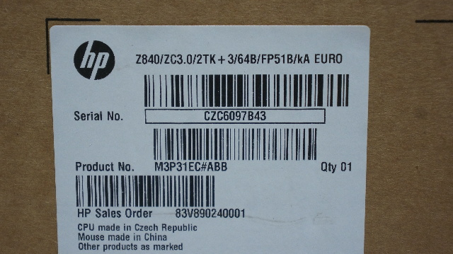 Hp Z840 Service Label - Trovoadasonhos