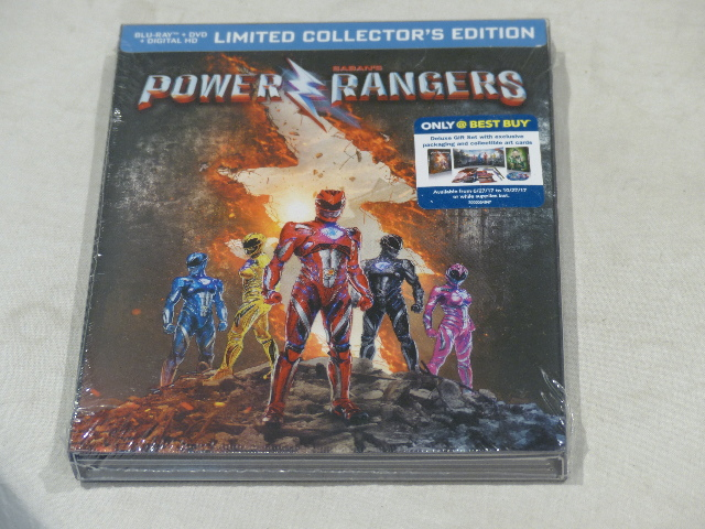 POWER RANGERS BLU-RAY+DVD+DIGITAL HD LIMITED COLLECTOR'S EDITION NEW
