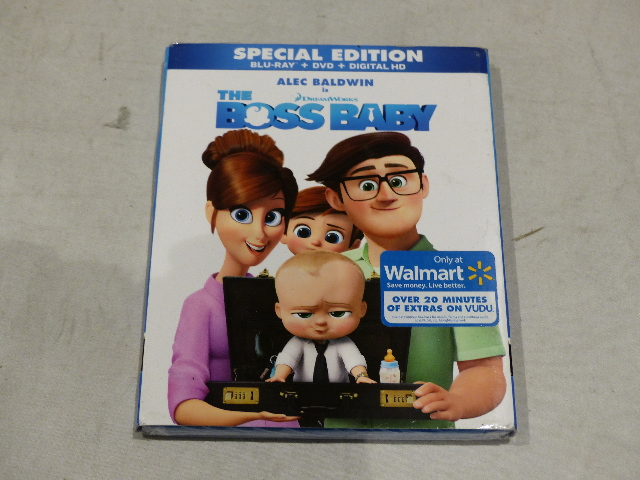 THE BOSS BABY SPECIAL EDITION BLU-RAY + DVD + DIGITAL HD NEW SEALED W/ SLIPCOVER