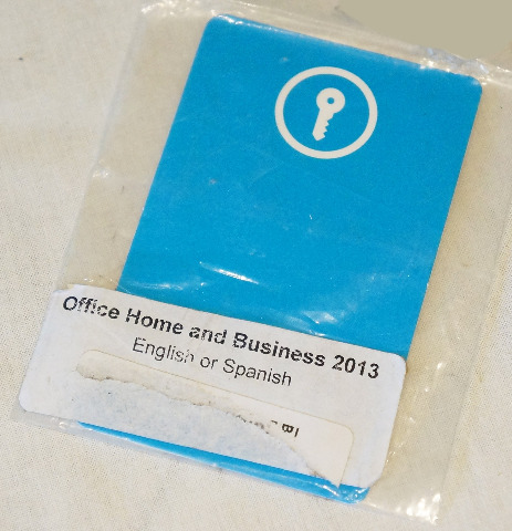 MICROSOFT OFFICE HOME AND BUSINESS 2013 ACTIVATION KEY CARD / KEY CODE NEW