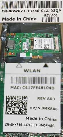 DELL WLAN PCI-X NETWORK ADAPTER 0MX846 0GW073