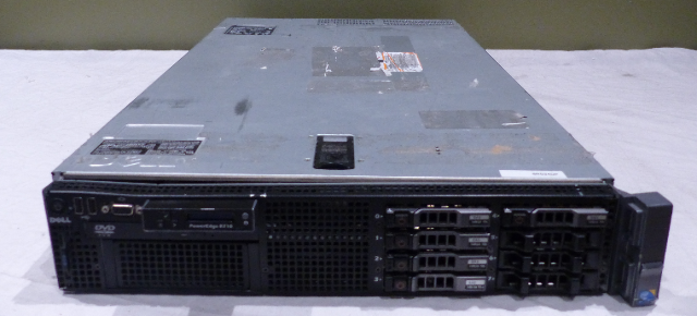 DELL POWEREDGE R710 2U SERVER 2* INTEL 2 40GHZ 8* 8GB 64GB 5* 146GB HDD 2*  PSU
