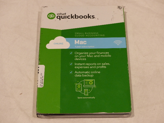 INTUIT QUICKBOOK SMALL BUSINESS CLOUD ACCOUNTING MAC 1 YEAR SUBSCRIPTION W/ SLIP