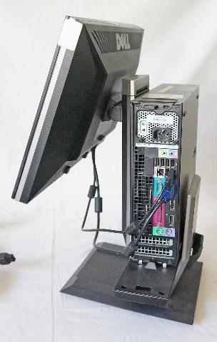 """DELL OPTIPLEX 960 DESKPTOP W/ DELL 19"""" MONITOR AND DELL MULTIMEDIA SPEAKER AX510"""