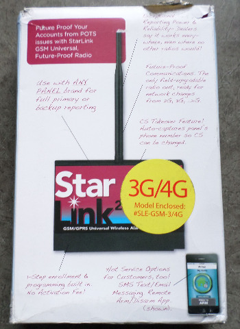 NAPCO STARLINK UNIVERSAL ALARM RADIO SLE-GSM-3/4G / MISSING ANTENNA