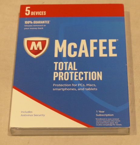 MCAFFE 2017 TOTAL PROTECTION FOR 5 DEVICES MTP17EWD5RAA