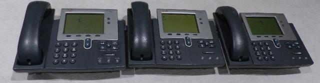 3* CISCO IP PHONE 7942 CP-7942G UNTESTED