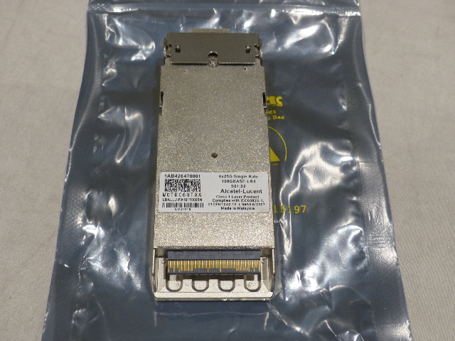 ALCATEL-LUCENT 100GBASE-LR4 4X25G SINGLE RATE TRANSCEIVER MODULE 100GBASE-LR4