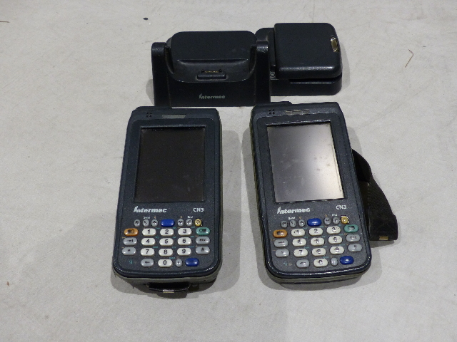 Details about 2* INTERMEC WIRELESS HANDHELD CN3 BARCODE SCANNERS & 1*  CHARGING DOCK W/ BATTERY