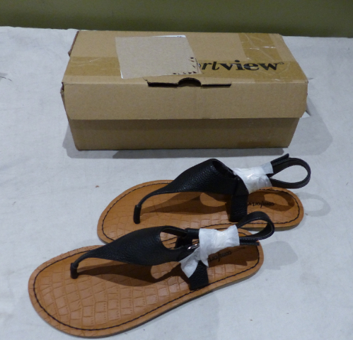 COMFORTVIEW JOSLYN 3614062 8W WOMEN'S BLACK SANDALS NEW