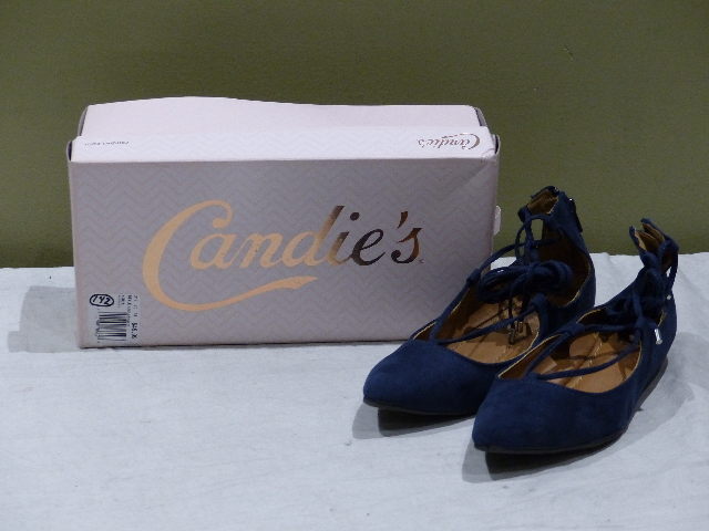 CANIDES KRAIZIN WOMENS LACE UP POINTED TOE FLATS 7.5