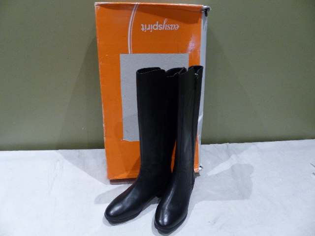 EASYSPIRIT NADENE 25022933-4W0 BLACK WOMENS 6W BOOTS NEW